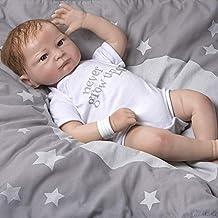 Paradise Galleries Silicone Vinyl Baby Boy Doll, 20 inch Newborn Baby Bundles: Never Grow up - Flextouch Vinyl