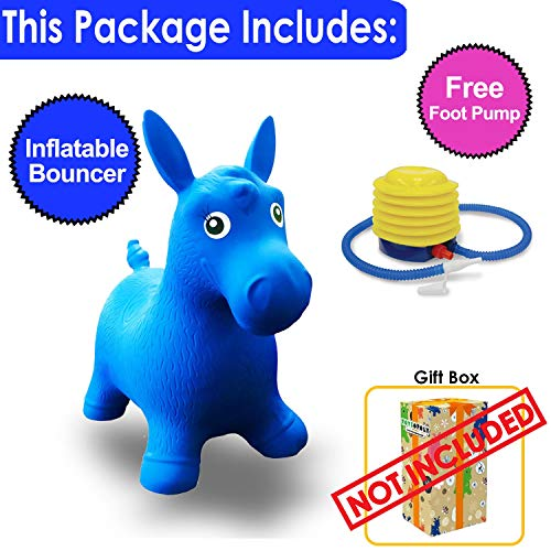 ToysOpoly Inflatable Bouncer Seat - Best for Physical Therapy, Increases Balance and Agility, Eco-Friendly + Free Foot Pump, Easy to Inflate (Blue-) by ToysOpoly (Image #2)