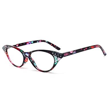 553081c46b86 MINCL 2018 Cat Flower Vintage Sexy Reading Glasses Womens Anti-UV Diamond  Fashion (