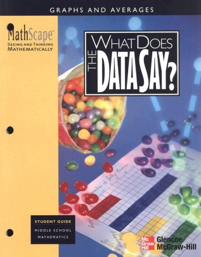 MathScape: Seeing and Thinking Mathematically, Grade 6, What Does the Data Say?, Student Guide