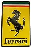 Ferrari Real Aluminum Rare Car Square Logo Badge Emblem for 512 308 458 599 328 GTS GTO GTB M Dino 612 F430 360 550 355 F1 Spyder Mondial TS Modena F1 Scuderia Spider Challenge Testarossa