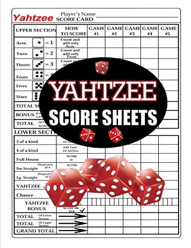 Yahtzee Score Sheets: 100 Yahtzee Score Pads,Yahtzee Game Record Score Keeper Book, Yahtzee Score Card