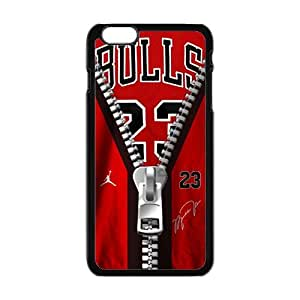 Creaitve Pattern Bulls 23 Zipper Fahionable And Popular Back Case Cover For Iphone 6 Plus