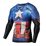 Madhero Men's Athletic 3D Sport Tights Long Sleeve T-shirts