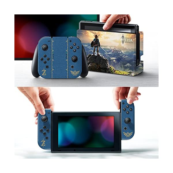 """Controller Gear Nintendo Switch Skin & Screen Protector Set, Officially Licensed By Nintendo - The Legend of Zelda Breath of the Wild """"The Legend of Zelda"""" - Nintendo Switch 2"""