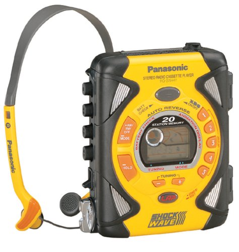 Panasonic RQSW44V Shockwave Personal AM/FM Cassette Player (Yellow)