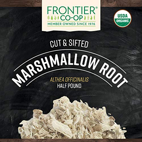 Frontier Co-op Marshmallow Root, Cut & Sifted, Certified Organic 1/2 lb. Bulk Bag