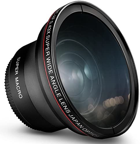 52MM 0.43x Altura Photo Professional HD Wide Angle Lens (w/M