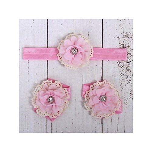 Conjunto couvres patas + diadema assortit modelo Little Star fucsia Talla:talla única rosa claro