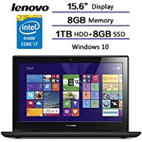 Lenovo Y50 Series Gaming Laptop Intel CoreI7-4720HQ/ 2GB NVIDIA GeForce GTX 960M/ 8GB RAM/ 1TB HDD+8GB SSD/Windows 10 Home 64. Perfect for Fast-paced Gaming