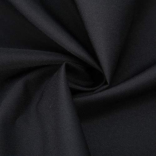 Nologo Polyester Tissu Barbecue Grill BBQ Couverture imperméable Panier Roulant Grill Couvre indéchirable Noir Résistant à l'eau QPLNTCQ