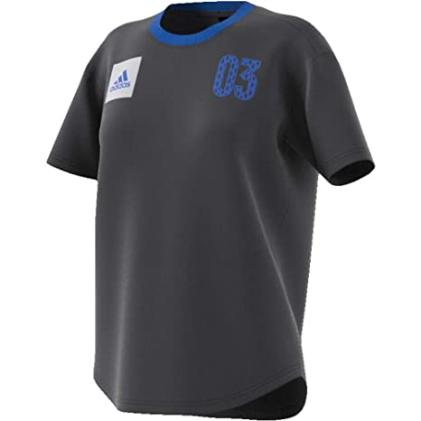Adidas Number 03 W Camiseta, Mujer, Gris (Carbon), XL