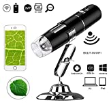 WiFi USB Digital Microscope,Leboo 50x to 1000x Magnification Mini Pocket Handheld Wireless Endoscope with 8 LED for iPhone/iPad/Android phone/Windows/Mac