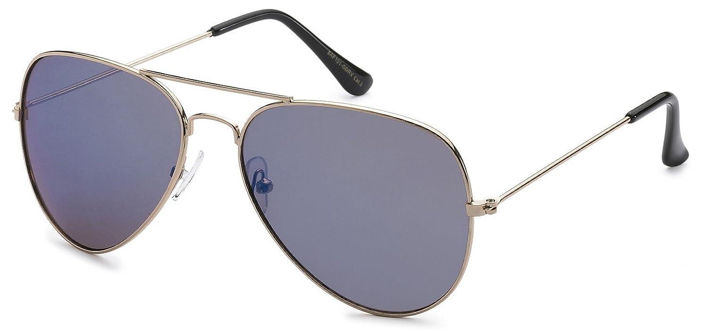 Air Force Metal Frame Classic Men Women Colorful Mirror Lens Aviator Sunglasses, Purple
