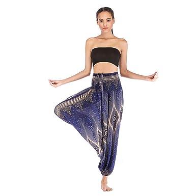RISTHY Mono Pantalones de Yoga Profesionales Tallas Grandes Fitness Pantalones Deportivos Mujer Sueltos Cintura Alta Pantalones Largos de Deporte ...