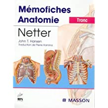 MEMOFICHES D'ANATOMIE NETTER : TRONC