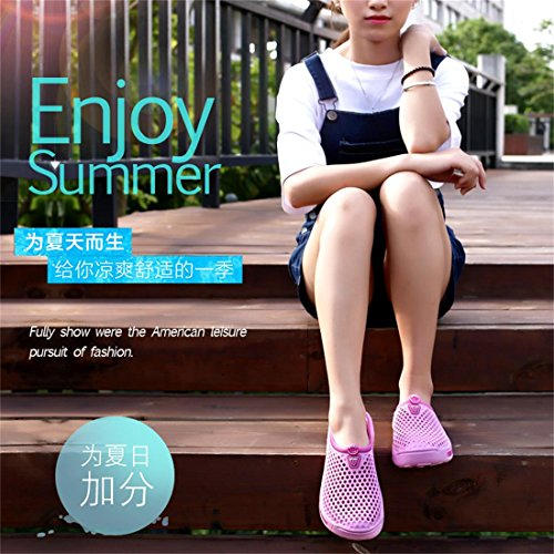 Sandals Women Pink Breathable Clogs Shoes LSGEGO Lightweight Shoes Garden Beach Slippers Water CdqTTwSx