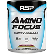 RSP Nootropic Pre Workout AMINOFOCUS, Turbo-Charged Energy & Limitless Focus, Naturally Flavored Pre Workout Powder for Men & Women, Creatine Free, Refreshing Raspberry Limeade, 30-Servings
