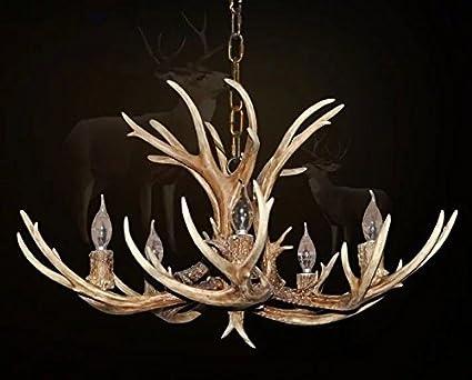 Kronleuchter Geweih ~ Effortinc antlers vintage style harz leichte kronleuchter