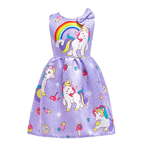 Dressy Daisy Girls My Little Pony Dress Costumes Unicorn Costumes Fancy Dress up Size 5 Purple -