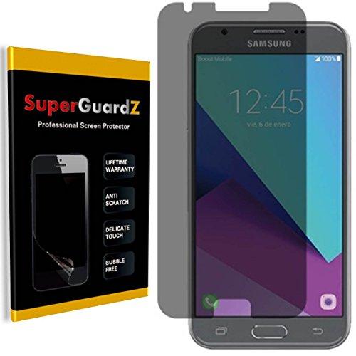 [2-Pack] Samsung Galaxy Amp Prime 2 (cricket) Screen Protector [Privacy Anti-Spy] - SuperGuardZ, Anti-Glare, Anti-Scratch, Anti-Bubble [Lifetime - Cricket Screen Protector