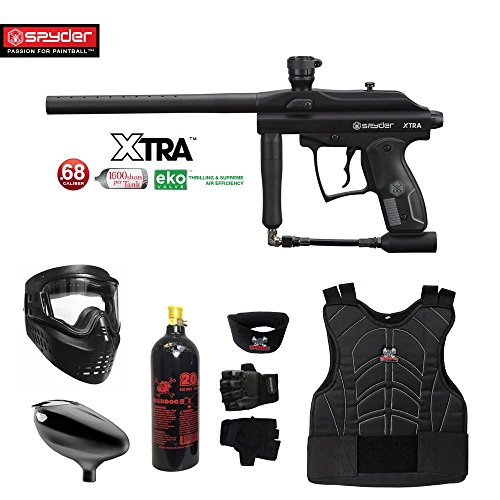 MAddog Spyder Xtra Beginner Protective CO2 Paintball Gun Package - Black