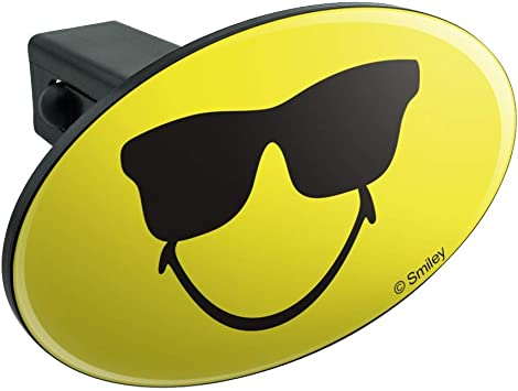 Graphics and More Smiley Smile Happy Yellow Face Oval Tow Hitch Cover Trailer Plug Insert 1 1//4 inch 1.25