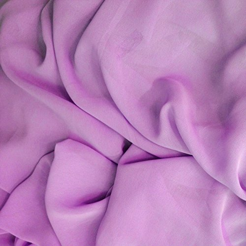 Chiffon Solid 58 Inch- Fabric by the Yard (F.E.) (Lavender)