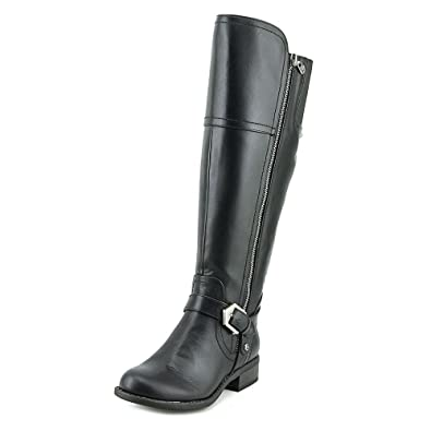 fa2e97d876bc G by GUESS Womens Hailee Leather Closed Toe Knee High Riding Boots Black SY  Size 5.0