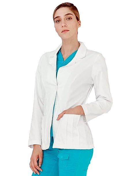 Adar Uniforms Bata Médica de Laboratorio Para Mujeres, Doctoras y Científicos - 4300 Color WHT | Talla: Size 6: Amazon.es: Ropa y accesorios