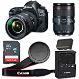 Canon EOS 5D Mark IV 30.4 MP CMOS Digital SLR Camera with 3.2-Inch LCD with EF 24-105mm f/4L IS II USM Lens - Wi-Fi Enabled (Certified Refurbished)