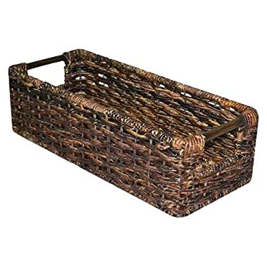 Media Decorative Basket - Dark Global Brown - Threshold