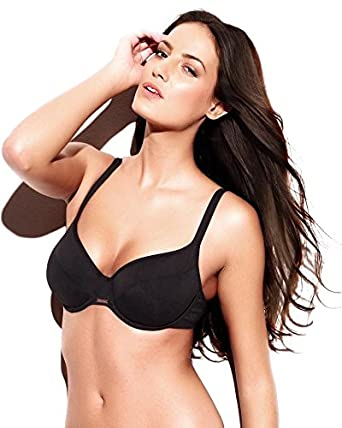 Panache Swimwear Holly Bikini Top Sw0622 Black 34jj Amazoncouk