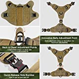 rabbitgoo Tactical Dog Harness Vest Large with