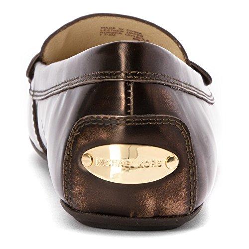 Michael Michael Kors de la margarita Moc Moc dedo del pie de cuero del holgazán Bronze