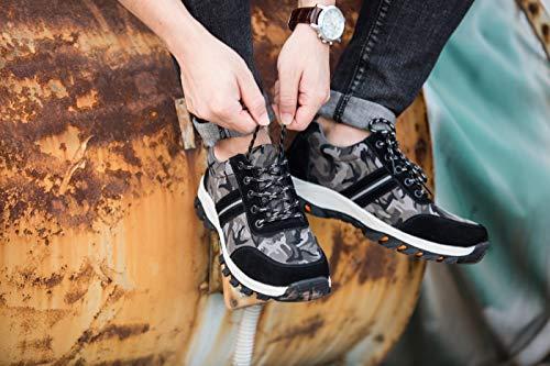 Botas Gris De Zapatos Deportivos Construcción Transpirable Unisex Calzado Comodas Axcer Hombre Con Trabajo Antideslizante Protección Seguridad Industria Acero Zapatillas Camuflaje S3 Puntera AS4nq41Waf