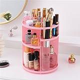 Kangsur Desk Organizer Multifunction Cosmetics Storage Adjustable 360 Degree Rotable,pink