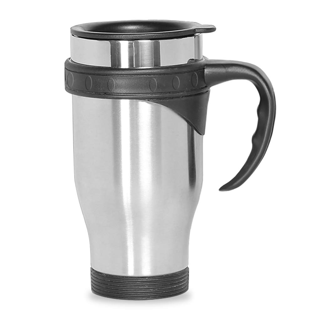 bdbbf2cc1f1 Travel Coffee Mug Cup Stainless Steel Insulated Thermos With Airtight Lid  To Go. UNIQUE DESIGN-HAND ...