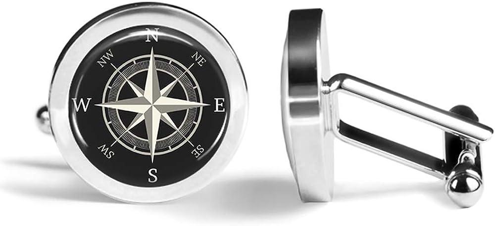 Angled Edition Oakmont Cufflinks Nautical Cufflinks Compass Cuff Links