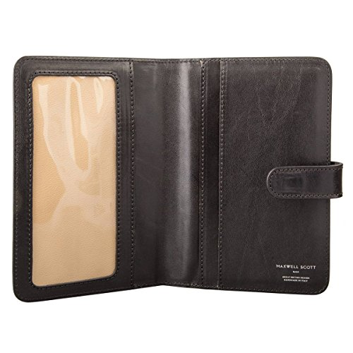 Maxwell Scott¨ Luxury Black Leather Travel Document Wallet (Vieste) by Maxwell Scott Bags