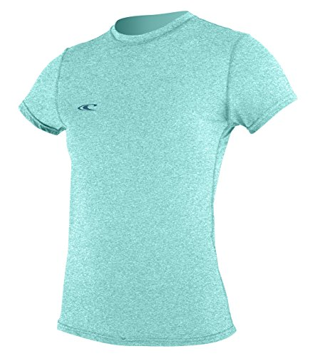 O'Neill Women's Hybrid UPF 50+ Short Sleeve Sun Shirt, Seaglass, Medium