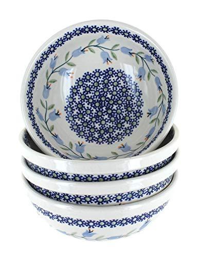 Blue Rose Polish Pottery Tulip 4 PC Dessert Bowl Set