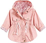 Evelin LEE Kids Girl Toddler Girls Spring Fall Trench Coat Wind Hooded Jacket