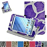 "Acer Iconia One 8 B1-850 Rotating Case,Mama Mouth 360 Degree Rotary Stand With Cute Lovely Pattern Cover For 8"" Acer Iconia One 8 B1-850 Android Tablet,Giraffe Purple"