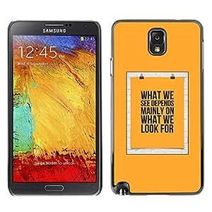 Be Good Phone Accessory // Dura Cáscara cubierta Protectora Caso Carcasa Funda de Protección para Samsung Note 3 N9000 N9002 N9005 // Yellow Text Poster Meaning
