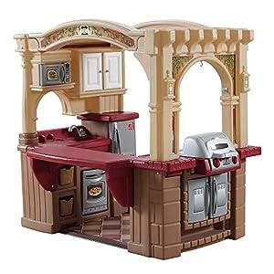 Step2 Grand Walk-In Kitchen & Grill | Large Kids Kitchen Playset Toy | Play Kitchen with 103-Pc Play Kitchen Accessories…