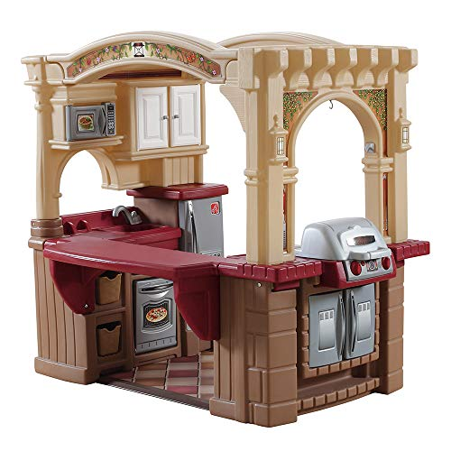 Step2 Grand Walk-In Kitchen & Grill | Large Kids Kitchen Playset | 103-Pc Accessory Set Included