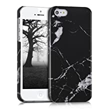 kwmobile Hard case Design marble for Apple iPhone SE / 5 / 5S in black white