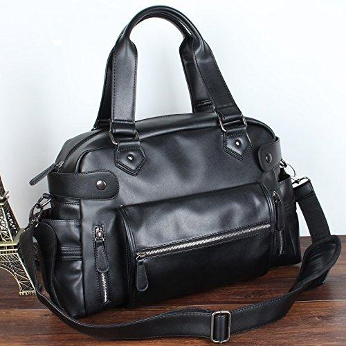 RTZLL Herren casual Leder Schulter Handtasche Tasche Reisetasche geneigt