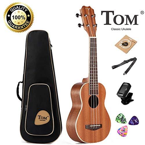 Concert Ukulele Bundle,23 inch Professional Tom Baritone Ukulele Starter Small Guitar Beginner African Mahogany for sale